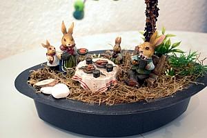 Osternest mit Häschen